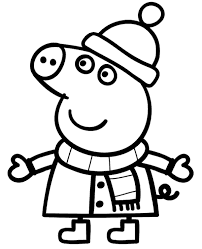 Peppa pig coloring pages seeds4kids.com. Winter With Peppa Coloring Page Topcoloringpages Net