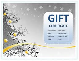 Make Your Own Gift Certificate Templates Free 10 Printable Free Christmas Gift Certificates