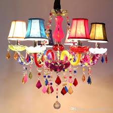 colored crystal chandelier modern colorful rainbow color crystal chandelier pendant lamp children kids bedroom dinning room