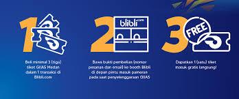 Free Tiket Harga Tiket Masuk Giias 2019 Medan Buy 1 Get 1 Free