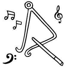 Small Picture Triangle is a Musical Instruments Coloring Pages Bulk Color