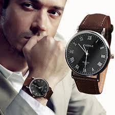 fashion men watches best watchess 2017 out deal mens fashion quartz faux leather luxury watch