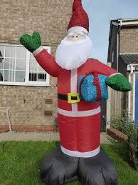 Christmas Decoration - 240cm Large Father Christmas Inflatable Santa With  LED Lights