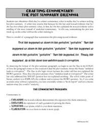 Writing Commentary For The Literary Analysis Essay Writing