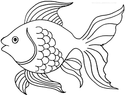 Gold Fish Coloring Pictures For Kids The Color Panda