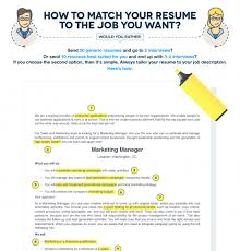 How To Tailor A Resume To A Job Description Infographic ELearning Extraordinary How To Tailor A Resume To A Job