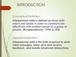 definition of interpersonal skills factors affecting interpersonal skills among second year medical