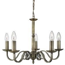 richmond 5 light antique brass