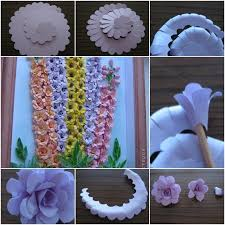 how to make paper wall art flowers