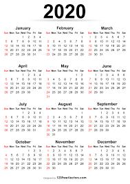 Editable 2020 Monthly Calendar 210 2020 Calendar Vectors Download Free Vector Art