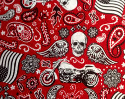Harley fabric | Etsy & Motorcycle Bandana by Hi-Fashion Fabrics/Quilting Sewing Craft Fabric/Winged  Skulls/ Adamdwight.com