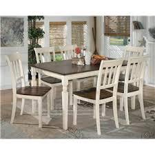 signature design by ashley whitesburg 7piece rectangular dining table set furniture chair set18 furniture