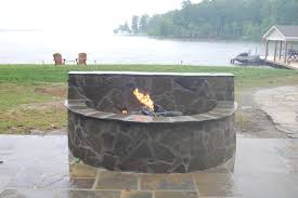 Stacked Stone Fire Pit 47 stone fire pits granite fire pit from stone forest new fire 3275 by uwakikaiketsu.us