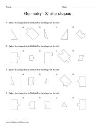 Worksheets. Similar Shapes Worksheet. Opossumsoft Worksheets and ...