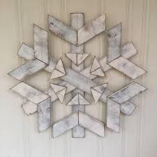 farmhouse large wooden snowflake by rustic modern farmhouse