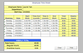 Excel Timesheet Form Monthly Time Sheet Template Microsoft Excel