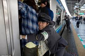 Asian busy girl forced in train