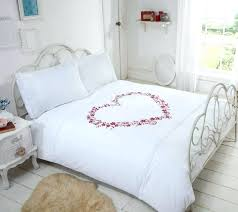 pink duvet cover embroidered hearts white pink duvet cover by rapport hot pink king size duvet