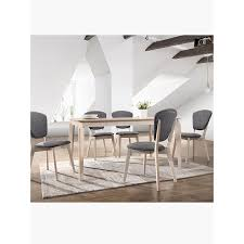 Image Scandinavian Style Remaining 7pcs Scandinavian Dining Set Mydeal 7pcs Scandinavian Dining Set In White Oak 15m Table Chairs