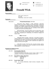Curriculum Vitae Examples Simple Resume Templates Unique Template Samples Professional British Cv