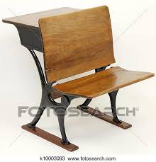 wooden school desk and chair. One Vintage Metal And Wood School Desk Chair Combination With A  In Back The Front. Wooden E