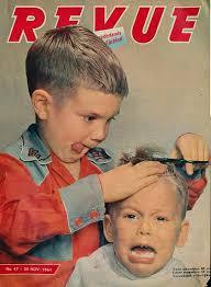 Revue Cover 25 Nov 1961 Obrázky Kadeřnictví Pánské účesy účesy