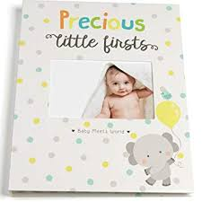 Baby Photo Album Book Baby Memory Book For First Year To Five Record Each Milestone From Your Child In A Keepsake Journal For Boys And Girls Modern Photo Album And Baby