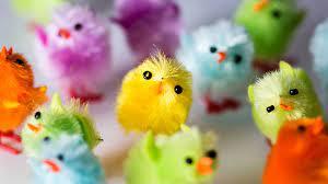 Colorful Cute Chick Toys Decorative ...