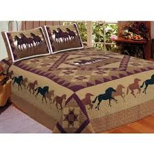 King Size Quilts | American Hometex | - Blanket Warehouse & Horse Country Quilt Set - King Size - Includes Shams Adamdwight.com