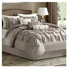 modern luxury bedding. Exellent Luxury King Comforter Set Modern Luxury Bedding Collection  7 Piece Taupe On O