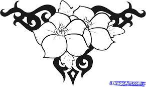 Small Picture How to Draw Flower Designs Step by Step Tattoos Pop Culture