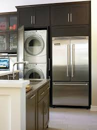 counter depth washer and dryer. Simple Washer Behind A Doorwhen Every Inch Counts Clever Cabinetry Is Same Depth As  Fridge And Works In Full Size WD To Counter Depth Washer And Dryer I