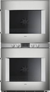 gaggenau 400 series double oven stainless steel backed full glass door width 30 76 cm bx480611