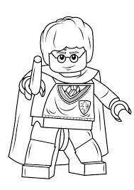Kids N Funcom Coloring Page Lego Harry Potter Harry Potter With Wand