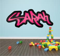 personalised wall art graffiti bedroom decal sticker