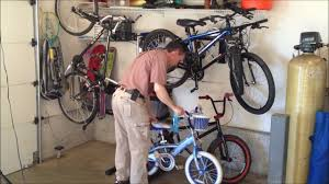 contemporary garage bike storage idea 5 bicycle option you diy solution rack hook ceiling pulley system