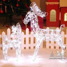 reindeer and sleigh outdoor decoration animated lighted reindeer deer family yard decoration lights new decorations decorations whole 8 ft inflatable