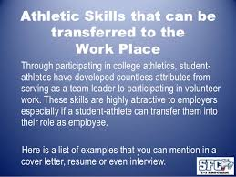 athletic athletic cover letter