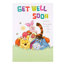 Get Well Soon Poster Disney Winnie The Pooh Get Well Soon Card