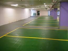 Pavimento antistatico : Pavimento in resina epossidica per parcheggio aspetto