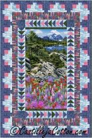 Panel Quilt Patterns Cool Wilderness Panel Quilt Pattern CJC48 Advanced Beginner Lap And