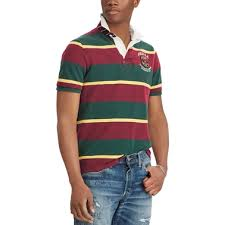 polo ralph lauren classic fit mesh rugby shirt