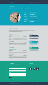 Resume Website Design Resume Flat Web Design Domestika 10