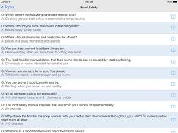 Food Handlers Test Answers Food Handlers Test On The App Store