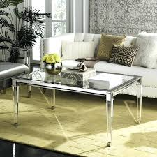 couture high line collection acrylic silver coffee table safavieh thyme round