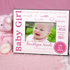 we made a wish baby girl personalized picture frame