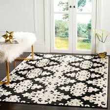 area rugs bryan black cream indoor outdoor area rug