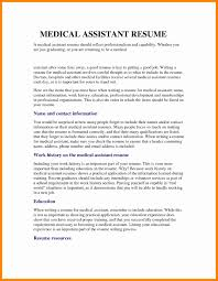 Cover Letter Medical Assistant Resume Objectives New Resume Samples