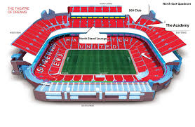 Old Trafford Stadium Plan Manchester England Manchester