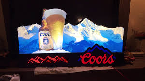 Coors Light Light Up Sign Vintage Coors 1990s Rocky Mountains Light Up Bar Sign